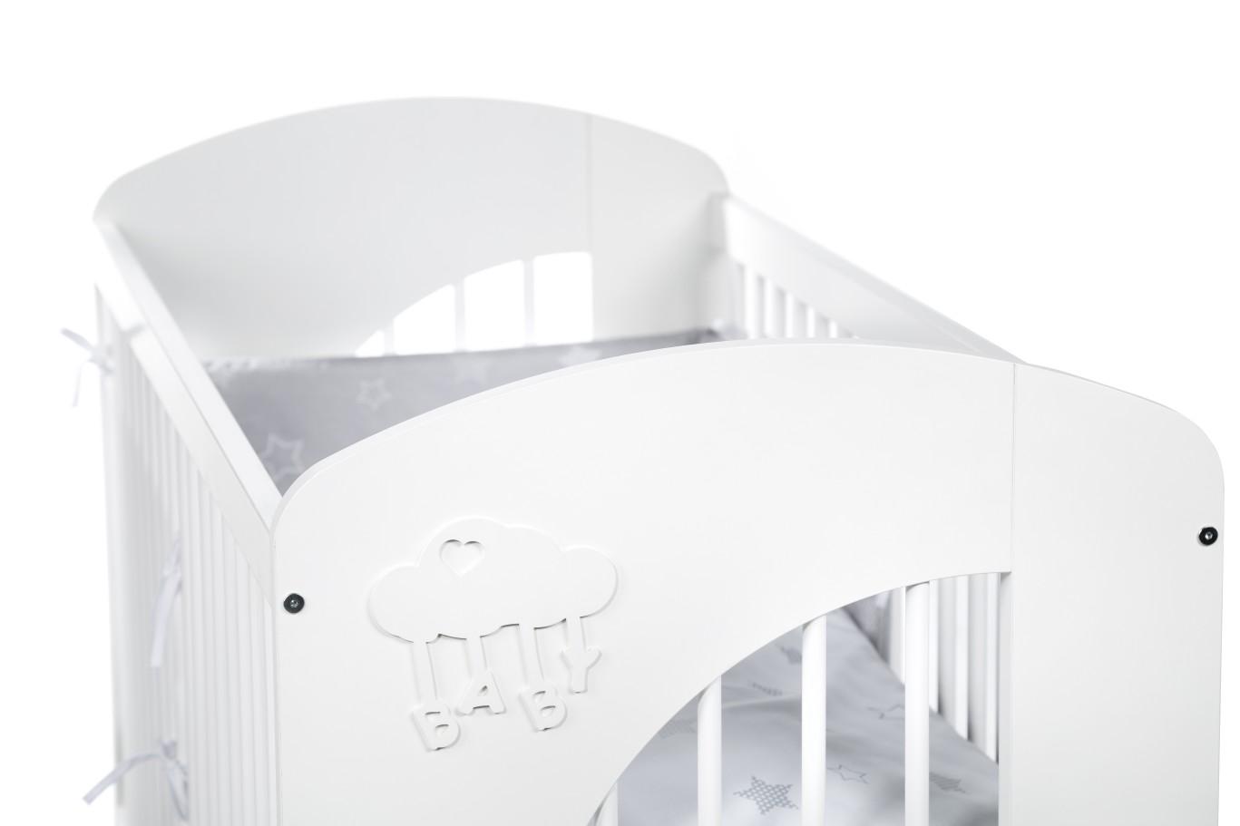 NEL - CLOUD - white baby cot