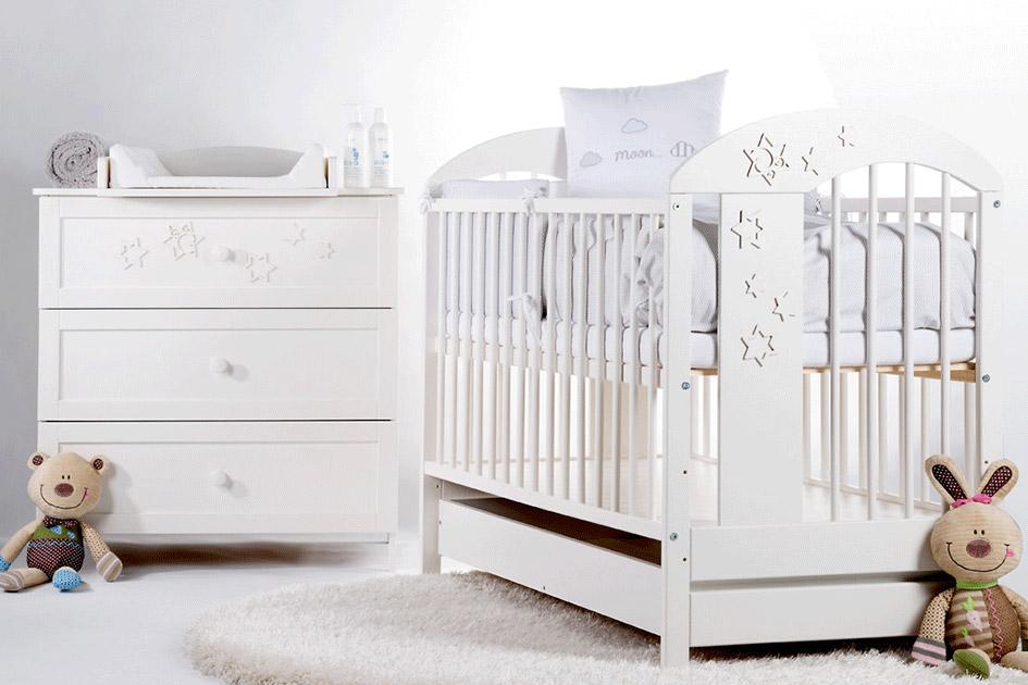 łóżeczko dziecięce białe - Radek VII